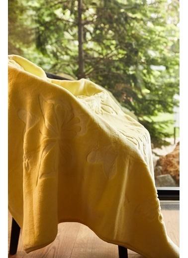 Arma Baby's Sarı Kelebekli Polar Bebek Battaniyesi Sarı